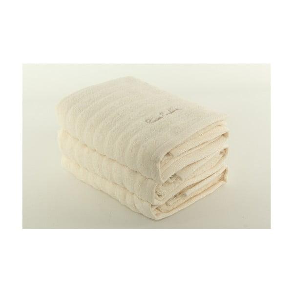 Sada 3 osušek Pierre Cardin Cream, 50x90 cm