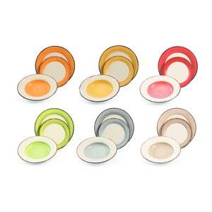18dílná sada barevného nádobí z kameniny Villa d'Este Casale
