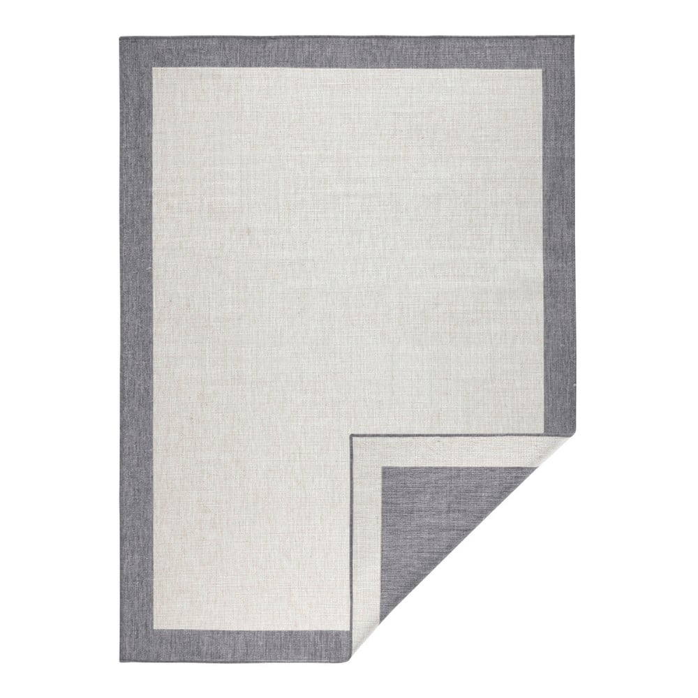 Šedo-krémový oboustranný koberec vhodný i na ven Bougari Panama, 160x230 cm