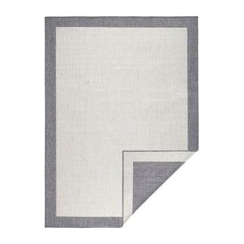 Covor reversibil adecvat interior/exterior Bougari Panama, 80 x 150 cm, gri-crem