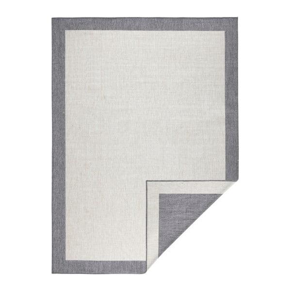 Sivo-krémový obojstranný koberec vhodný aj do exteriéru Bougari Panama, 120 × 170 cm