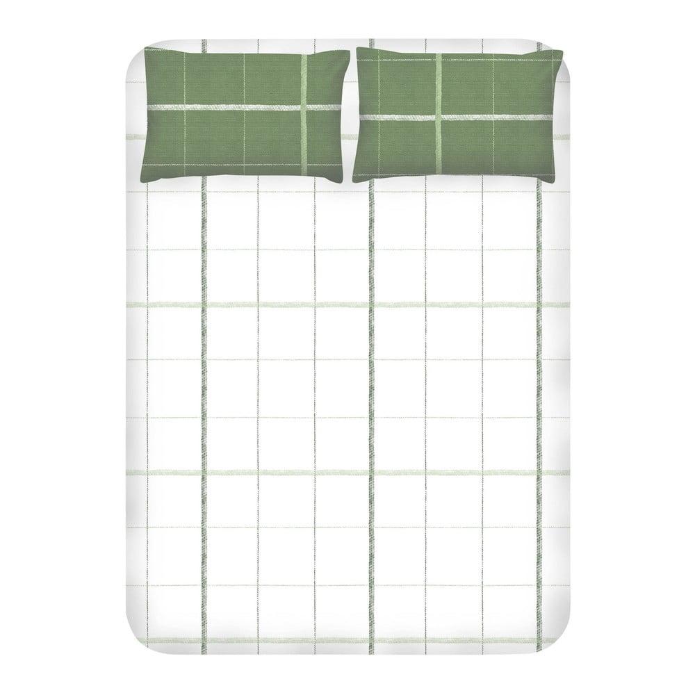Set prostěradla a 2 povlaků na polštáře EnLora Home Maya Green, 240 x 260 cm