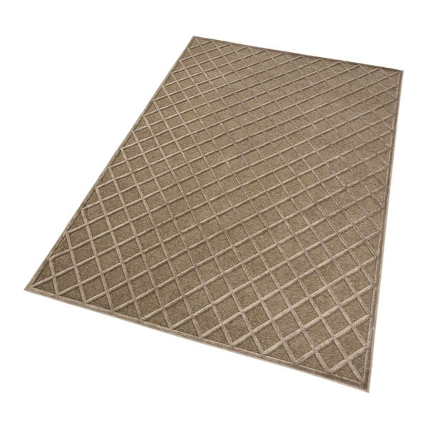 Hnědý koberec Mint Rugs Shine Karro, 120 x 170 cm