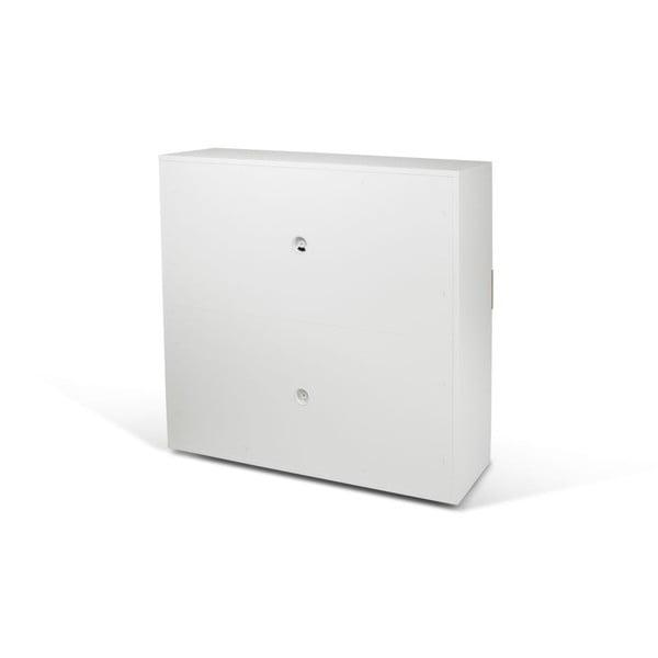 Pracovní koutek Focus White/Oak, 110x42x109 cm