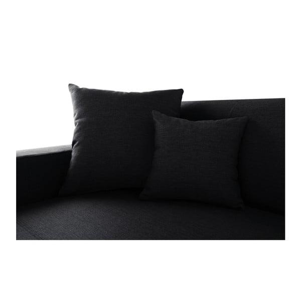 Černá sedačka Interieur De Famille Paris Perle, levý roh