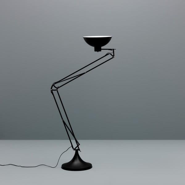 Černá stojací lampa Design Twist Isparta