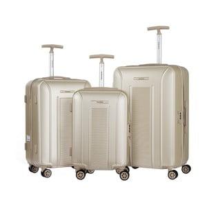 Sada 3 béžových cestovních kufrů na kolečkách Murano Africa