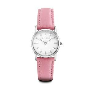Ceas damă din piele Eastside Elridge, roz - argintiu