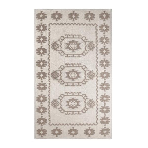 Krémový koberec s příměsí bavlny Yoruk Coffee, 60 x 90 cm