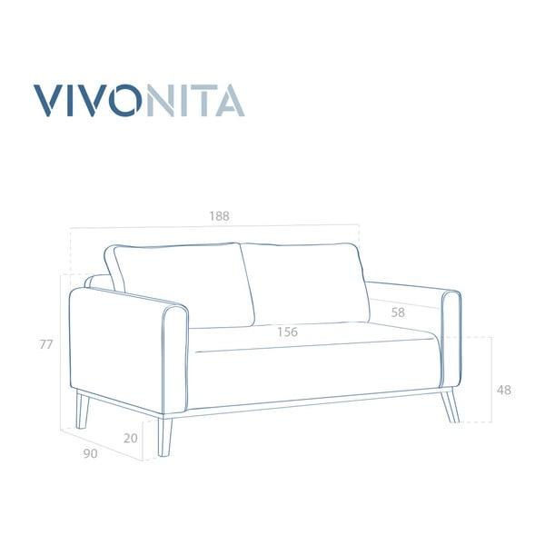 Modrá třímístná pohovka Vivonita Milton
