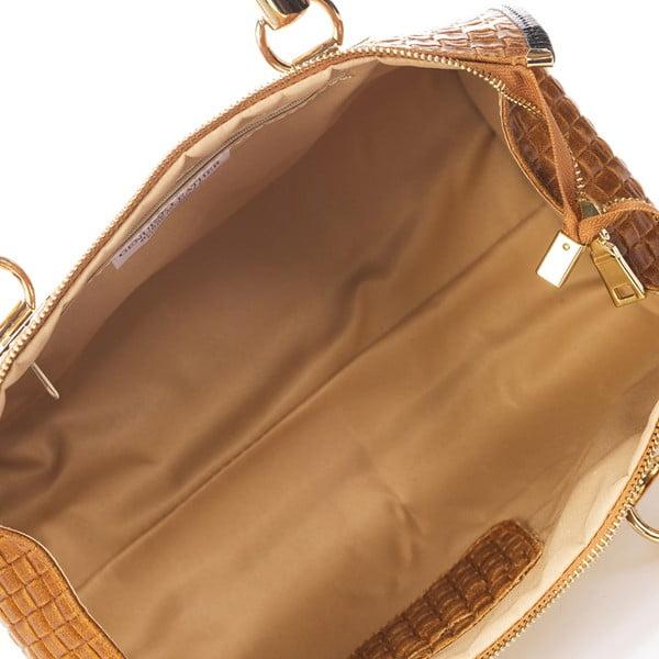 Světle hnědá kožená kabelka Giulia Massari Act