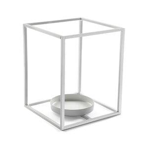 Bílý svícen VERSA Cube, výška 20 cm