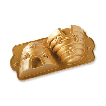 Formă de copt cu model stup Nordic Ware Bee Hive 2,4 l, auriu de la Nordic Ware