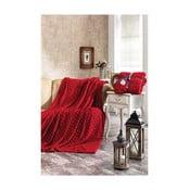 Červená deka Dolce Bonita Kalp, 220 x 180 cm
