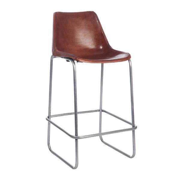 Barová stolička Leather Camel, 45x42x101 cm