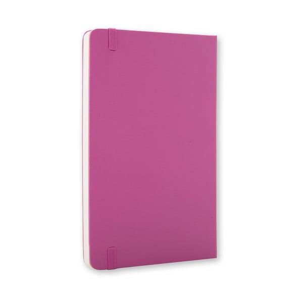 Malý růžový zápisník Moleskine Hard, bezlinek