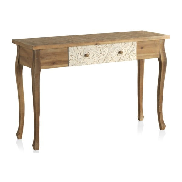 Dřevěný konzolový stolek se zásuvkou Geese Fionne