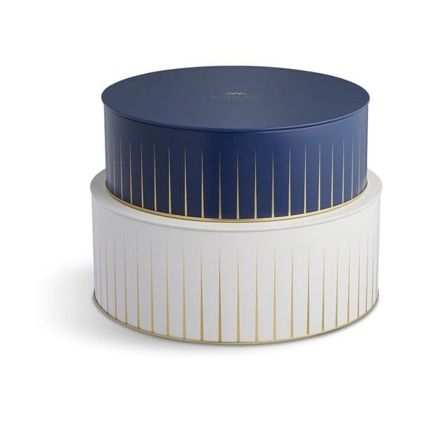 Sada modrého a bílé úložného košíku Kähler Design Hammershoi