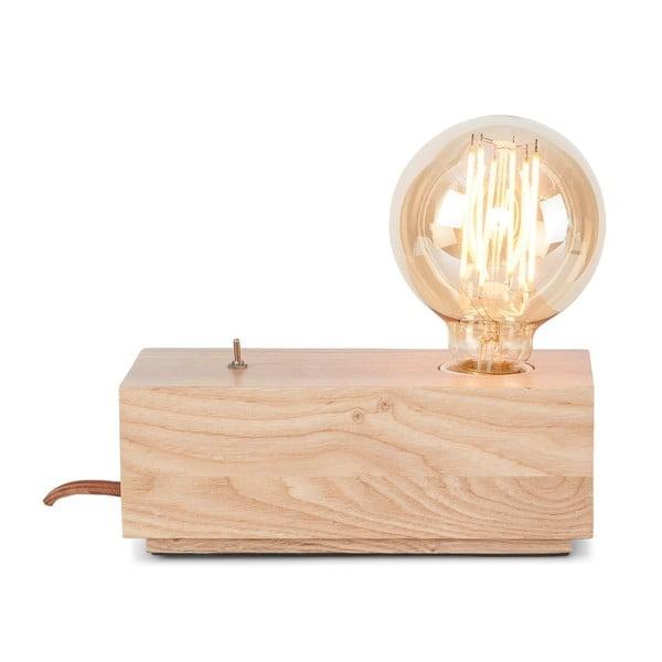 Stolová lampa z dubového dreva Citylights Kobe Two