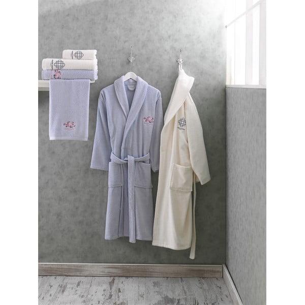 Komplet 2 bawełnianych szlafroków i 4 ręczników z kolekcji Marie Claire Bileto