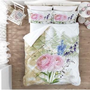 Ozdobný ložnicový set Pink Rose, 200x265 cm
