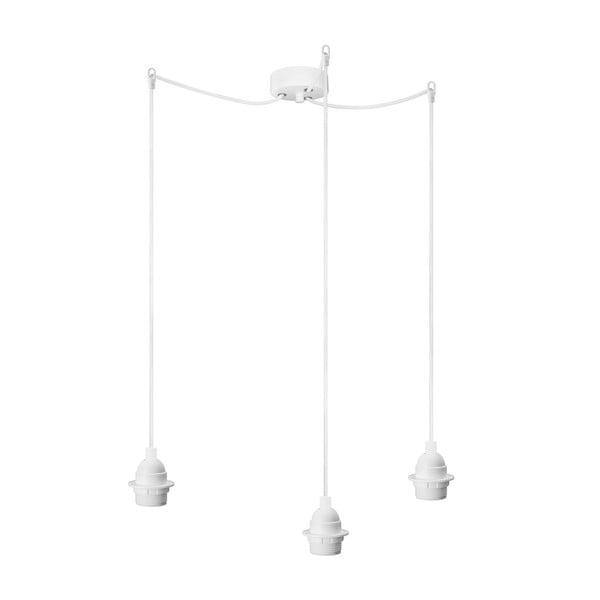 Bílé závěsné svítidlo se 3 kabely Bulb Attack Uno Primary