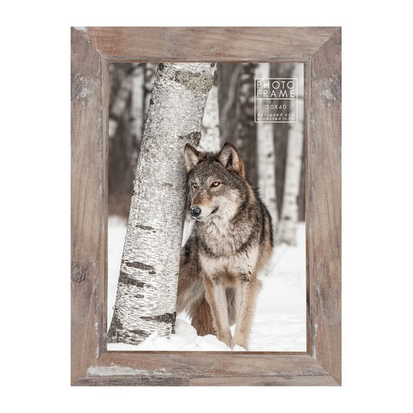 Hnědý rámeček na fotografii Styler Bergen Shabby, 30x40cm