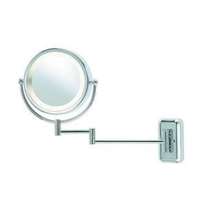 Stříbrné nástěnné zrcadlo s osvětlením Markslöjd Face
