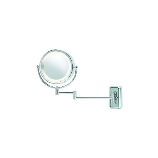 Face ezüstszínű falitükör, világítással - Markslöjd