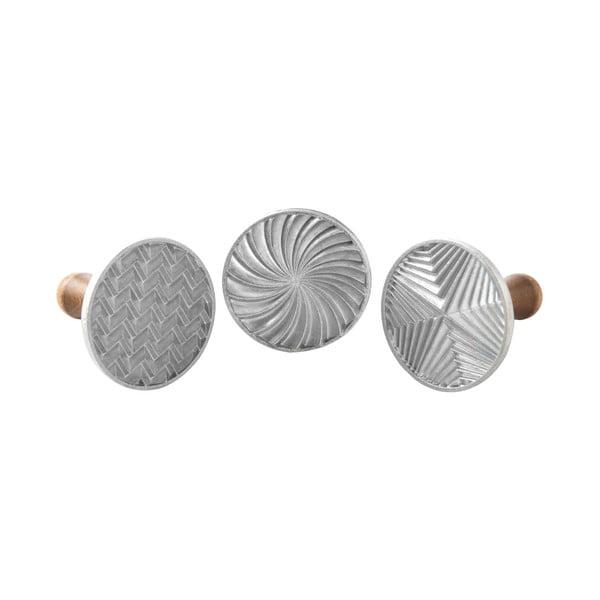 Zestaw 3 stempli do ciastek Nordic Ware Geo