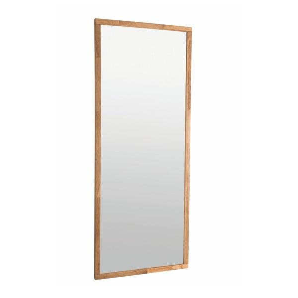 Oglindă cu ramă din lemn de stejar Rowico Gefjun