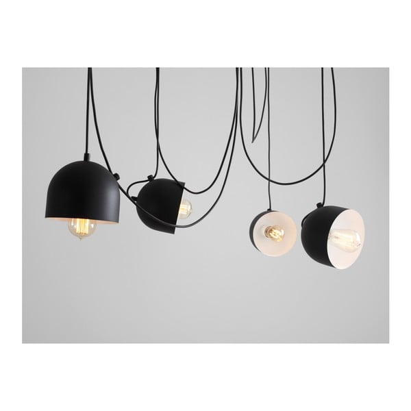 Černé závěsné světlo pro 4 žárovky Custom Form Popo