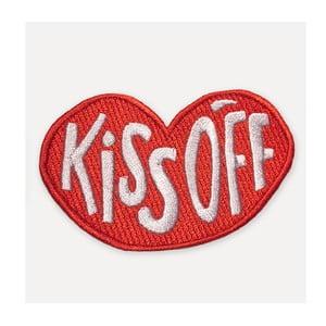 Červená zášivka ve tvaru rtů U Studio Design Kiss Off, 8,5 x 11 cm