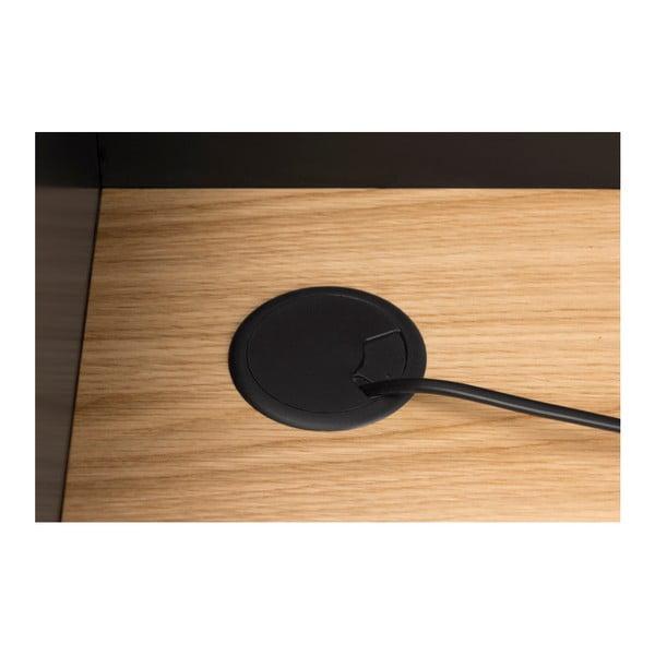 Birou TemaHome Volga Oak, negru