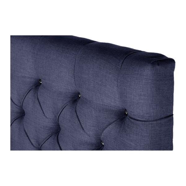 Tmavě modrá postel s matrací Stella Cadente Venus Forme, 160x200 cm
