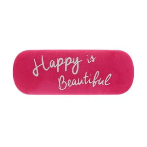 Růžové pouzdro na brýle Statement Pieces Happy is Beautiful, 17 x 6 cm