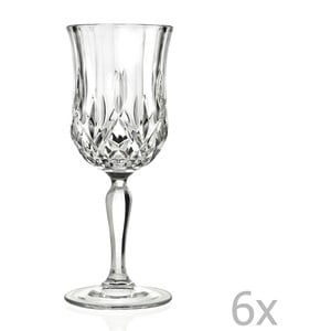 Sada 6 sklenic na sekt RCR Cristalleria Italiana Angiola
