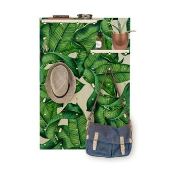 Cuier cu rafturi Surdic Pegboard Green Leaves de la Surdic