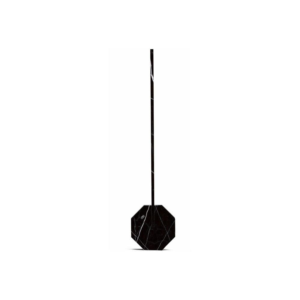 Černá stolní lampa v mramorovém dekoru Gingko Octagon