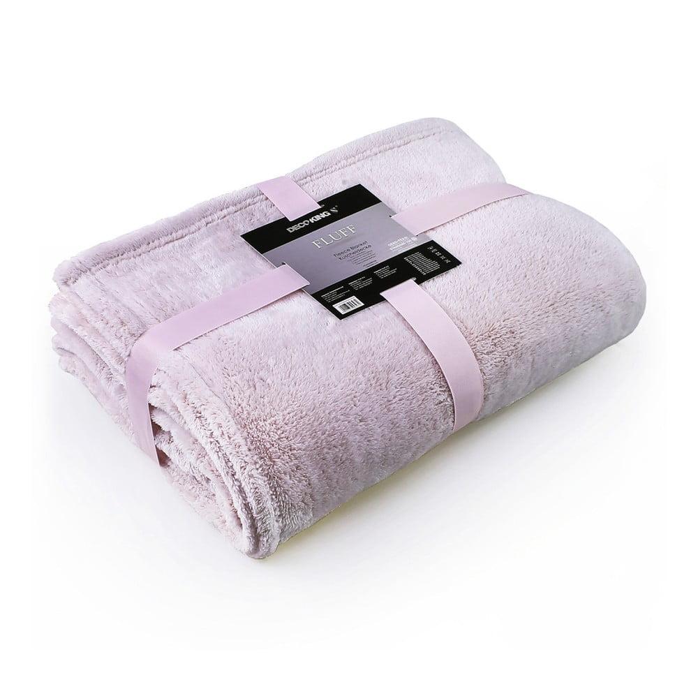 Světle růžová deka z mikrovlákna DecoKing Soft, 150 x 200 cm