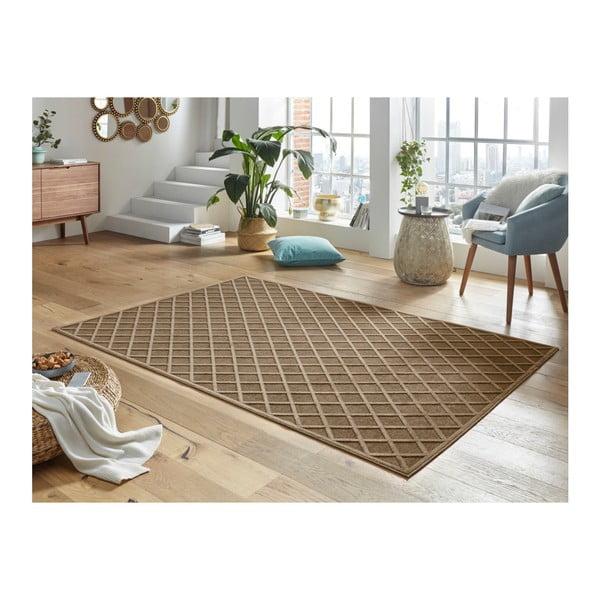 Hnědý koberec Mint Rugs Shine Karro, 80 x 125 cm