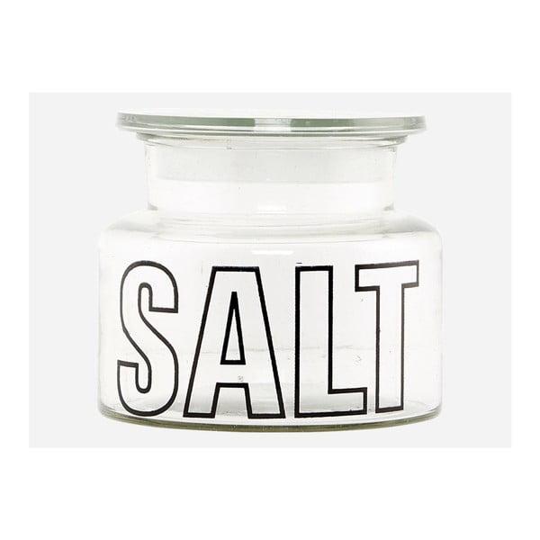 Skleněná dóza Salt