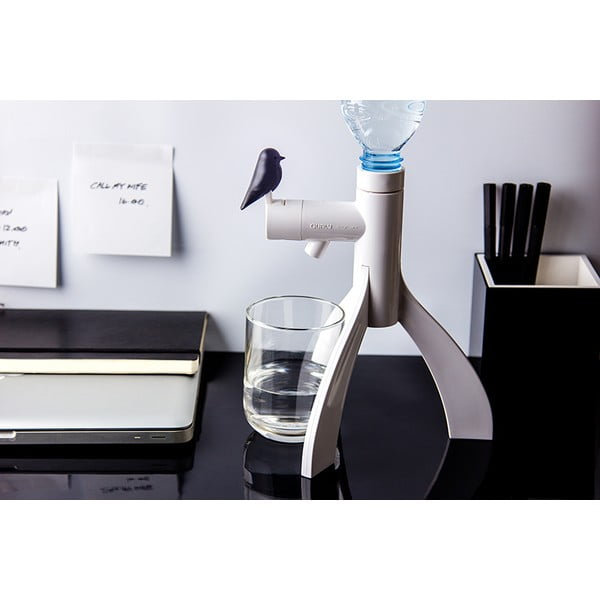 Stojan na PET láhev QUALY Thirsty Bird, černý
