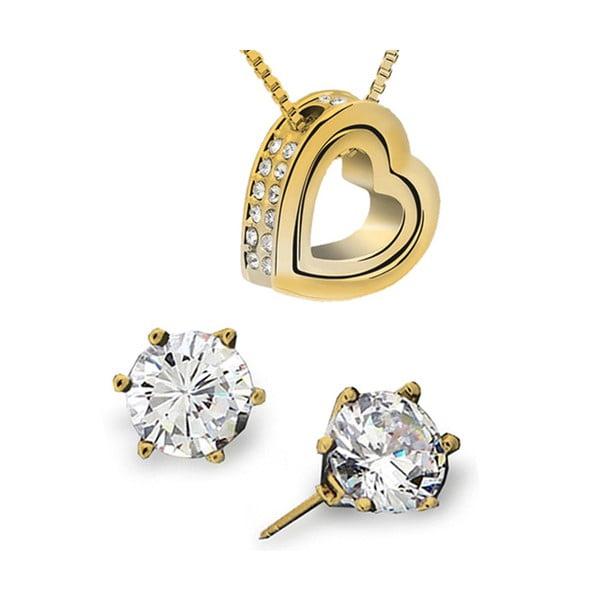 Set náušnic a náhrdelníku Eternity Oro