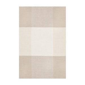 Pískově žlutý ručně tkaný vlněný koberec Linie Design Bologna, 50x80cm