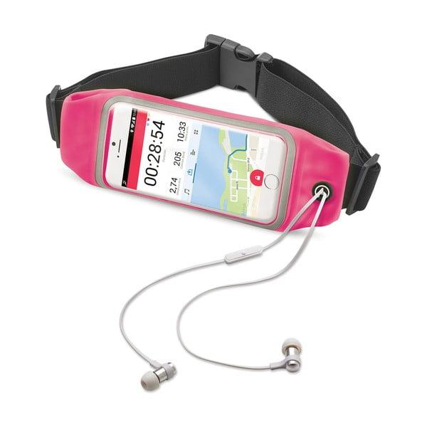 """Růžové sportovní neoprénové pouzdro Celly RunBelt View, pro telefony do 5.5"""""""