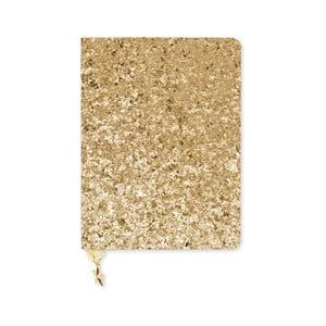 Zápisník A6 ve zlaté barvě GO Stationery All That Glitters Sequin