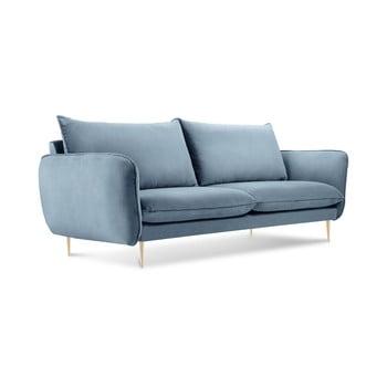 Canapea cu tapițerie din catifea Cosmopolitan Design Florence, albastru pal de la Cosmopolitan Design