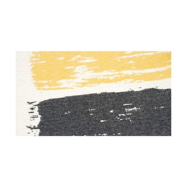Koberec NW White/Black/Yellow, 160x230 cm