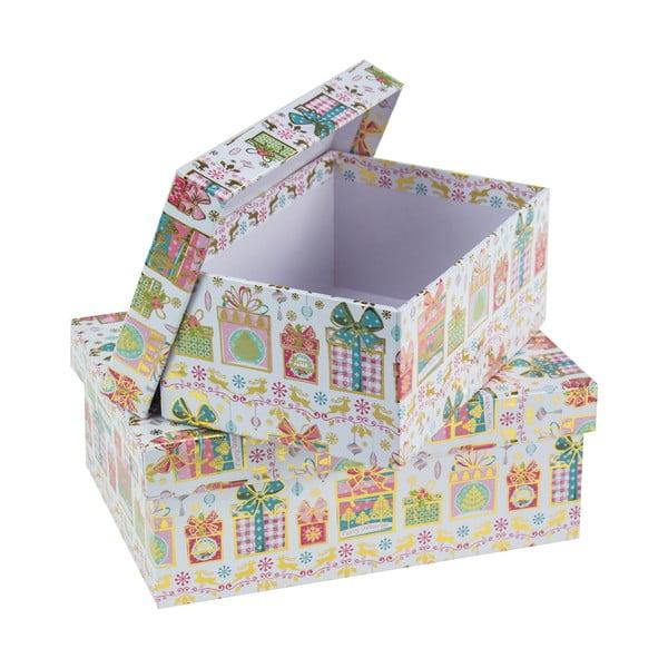 Sada 2 hranatých kartonových boxů Unimasa Gift